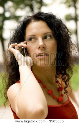 Pretty Woman Using Mobile Phone