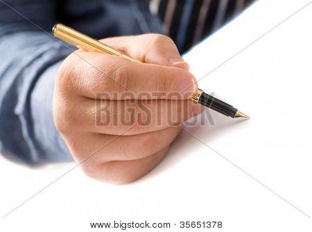 writing man