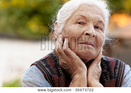 Portrait Of The Elderly Woman