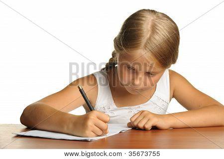 The Girl Writes To Writing-books. The Decision Of Lessons.