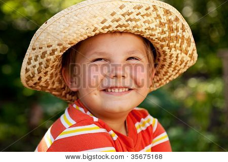 Smiling Boy In The Hat