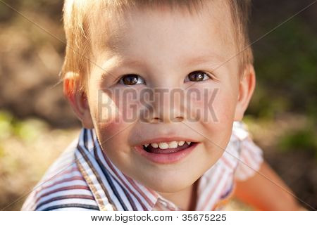 Portrait Of A Brown-eyed Boy
