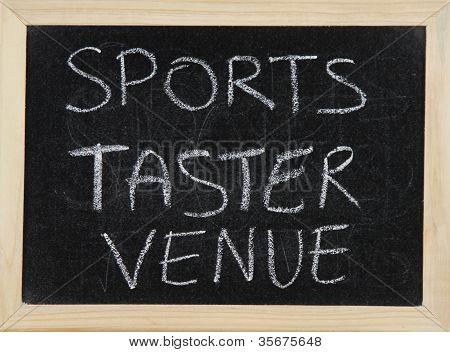 Sports Taster Venue.