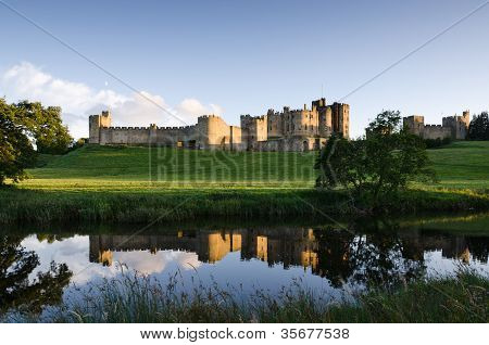 Alnwick Castle Reflected