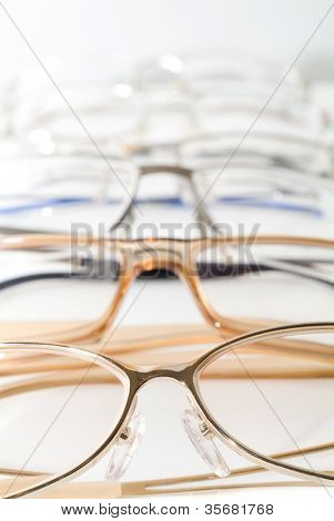 Glasses. On a white background isolation.