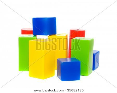 Children's cubes. Isolation on white