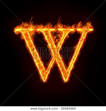 Fire Alphabets, W