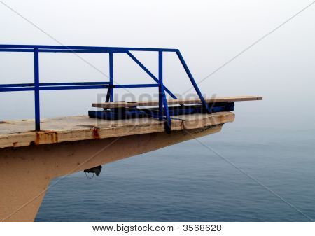 Jump platform over the sea in Opatija