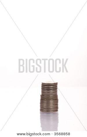 Stacking Münzen