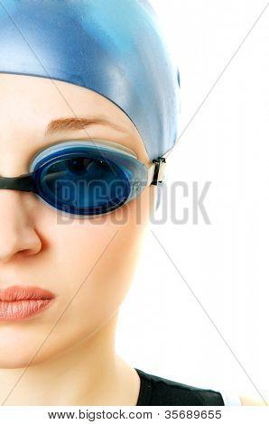girl in glasses for pool