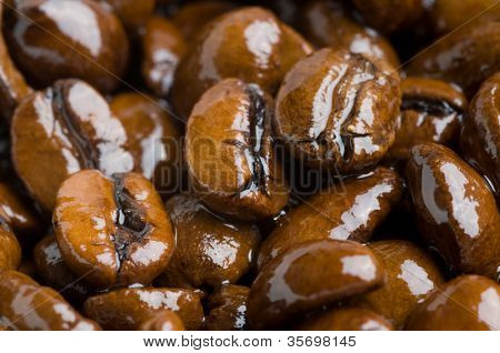 Coffee grains.  background