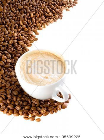 Coffee cup and grain