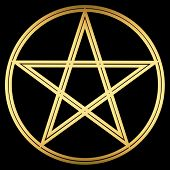 stock photo of wicca  - Depicted is the traditional Pentacle  - JPG