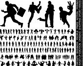 picture of person silhouette  - a new huge collection of excellent high quality traced people silhouettes vector illustration - JPG