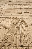 Carving Of Egyptian God On Pylon (egypt)