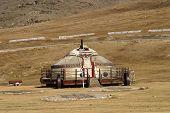 pic of ulaanbaatar  - Yurt on Mongolian steppe near Ulaanbaatar - JPG
