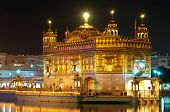 stock photo of harmandir sahib  - Golden Temple of Darbar Sahib the spiritual and cultural center of the Sikh religion India - JPG