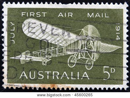 a Bleriot monoplane to commemorate the 50th anniversary of the first air mail flight in Australia