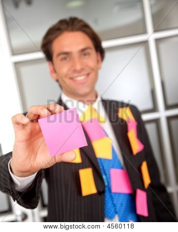 Business Man - Post Its