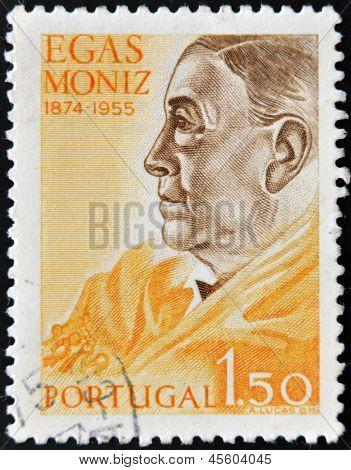 Portugal - Circa 1955: A Stamp Printed In Portugal Shows Egas Moniz, Circa 1955