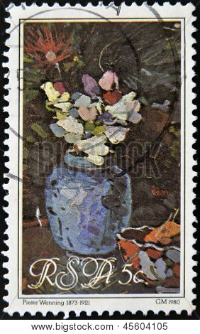 Republic Of South Africa - Circa 1980: A Stamp Printed In Rsa Shows Vase By Peter Wenning, Circa 198