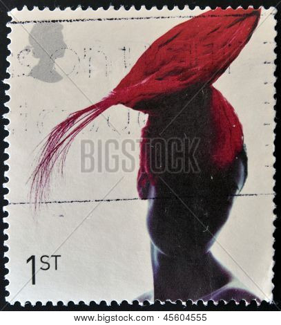 A stamp dedicated to fabulous hats shows Toque Hat by Pip Hackett