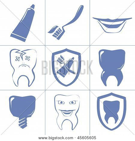 Dental Icons For Websait