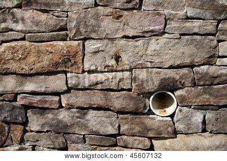 Beautiful brick drainage wall