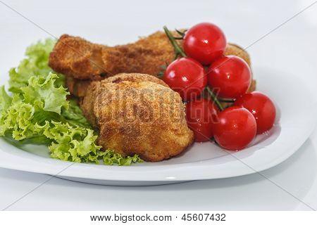 Fried Chicken Pieces.