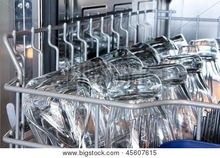Details of a dishwasher