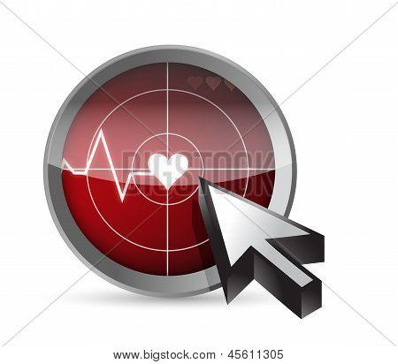 Ecg Tracing Radar Illustration Design