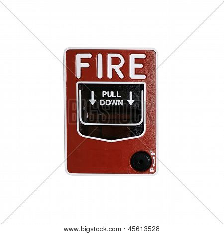 Fire Alarm On White Background
