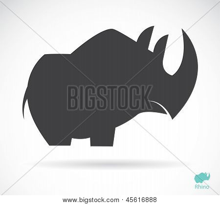 Vector image of an rhino