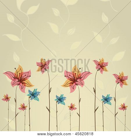 Spring or summer flower greeting card