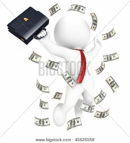 3d white people rich businessman