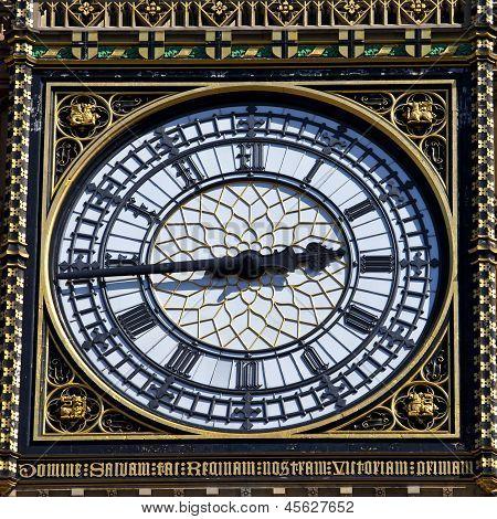 Big Ben Clock Face Detail In London