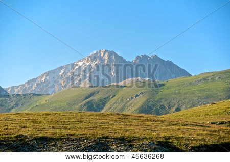 Corno Grande And Corno Piccolo Peak, Abruzzo, Italy