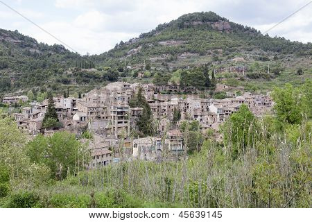 Medieval Village Of Mura In Barcelona Province.