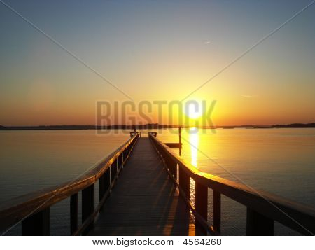 Dock And Sunset