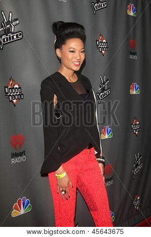 WEST HOLLYWOOD, CA - MAY 8:  Judith Hill at the NBC's 'The Voice' Season 4 Red Carpet Event at the House of Blues on May 8, 2013 in West Hollywood, California