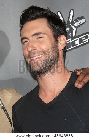 WEST HOLLYWOOD, CA - MAY 8:  Adam Levine at the NBC's 'The Voice' Season 4 Red Carpet Event at the House of Blues on May 8, 2013 in West Hollywood, California
