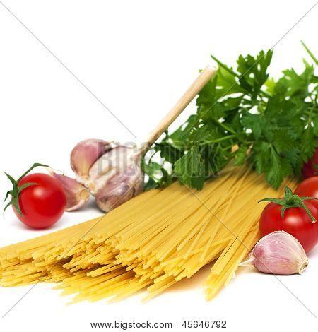 Spaghetti Preparation, Square Image