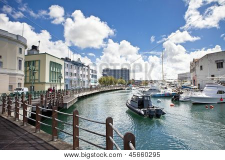 downtown marina of Bridgetown, Barbados