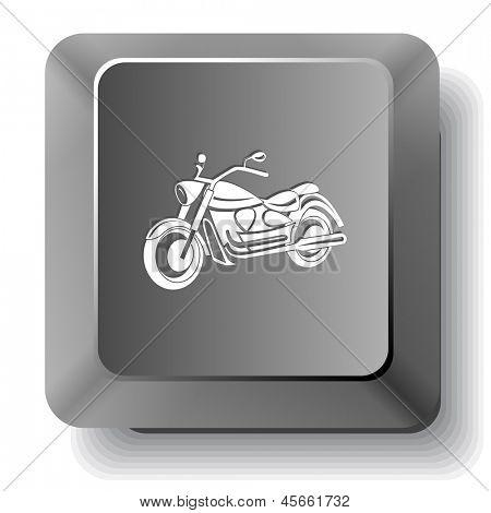 Motorcycle. Raster computer key.