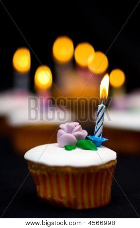 Bokeh Background Cupcake