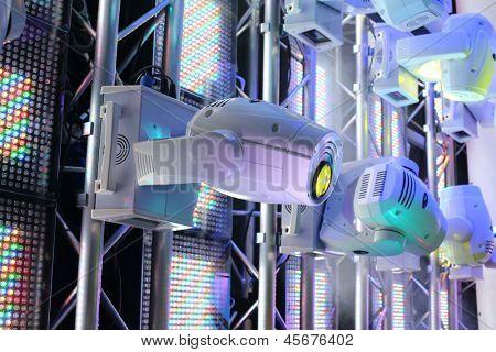 Equipamento de iluminação para clubes e salas de concerto do equipamento de iluminação da exposição