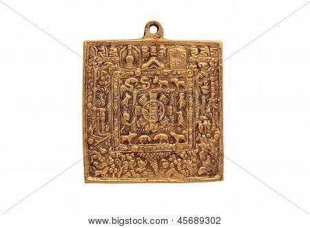 Metal Tibetan Calendar