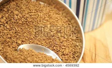 Coffee Granules, Spoon, And Cup