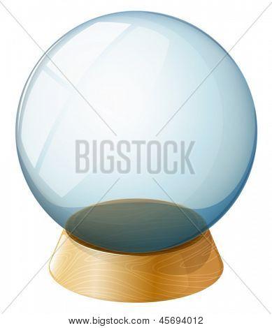 Ilustração de uma cúpula transparente sobre um fundo branco