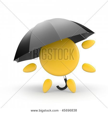 Sun and umbrella